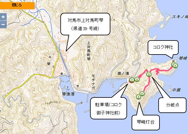 コロク神社地図