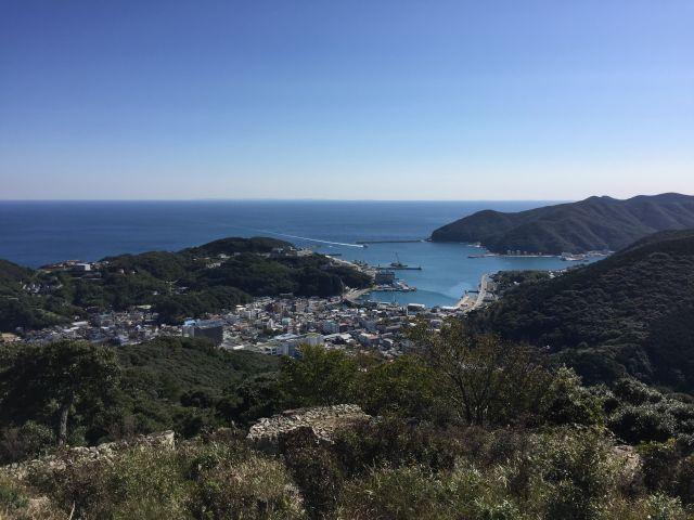 清水山から壱岐を望む