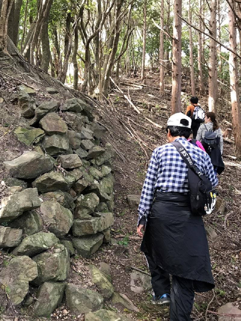 撃方山城の石垣