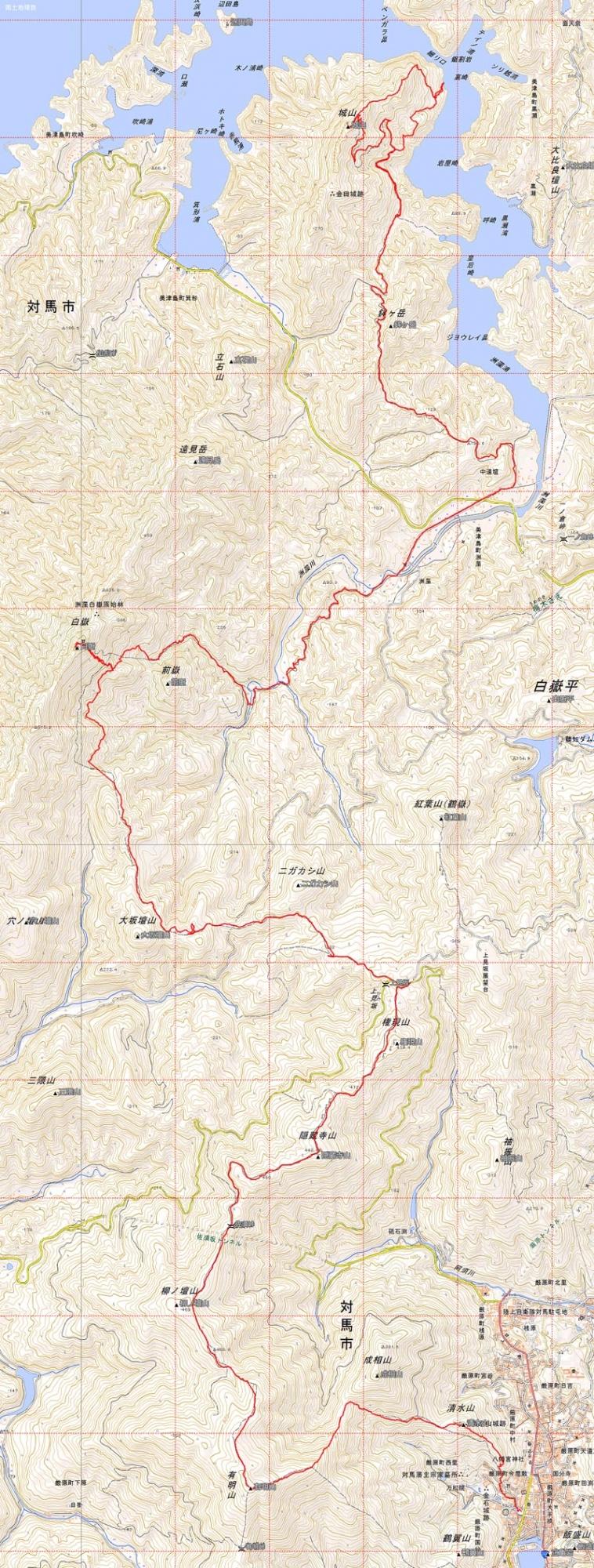 ロングトレッキング地図