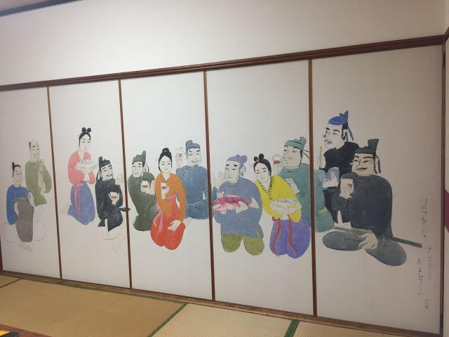 丸屋ホテル・襖絵