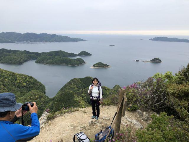 城山山頂にて