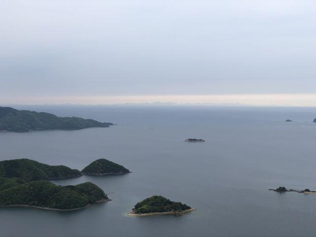 朝鮮半島が見えた