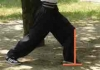 弓歩下腿垂直