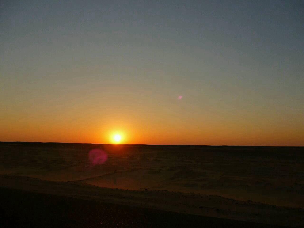 砂漠 サンセット