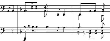 クライスレリアーナ第8曲部分。ベートーヴェン交響曲第5番「運命」と似ている箇所