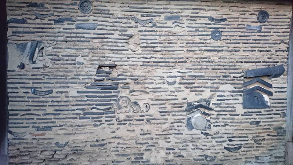 天龍寺の土塀