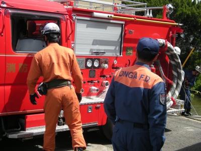 消防署との合同訓練