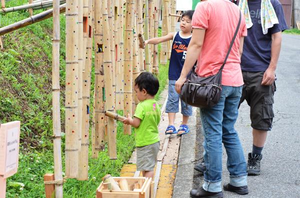 大地の芸術祭 十日町 絵本と木の実の美術館 竹の楽器