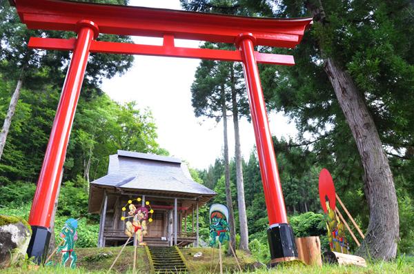 大地の芸術祭 2012 松台 赤ふん集合 雷神 風神