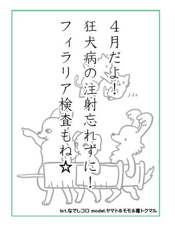 かるた 犬かるた  漫画 イラスト 絵 犬の漫画 犬漫画 manga Cartoon  注射 ワクチン