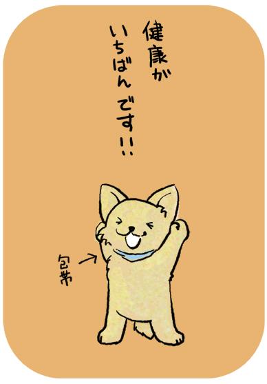 ヤル気 やる気になる イラスト illustration 犬 動物 癒し 可愛い 子供 児童 絵本 健康 手術