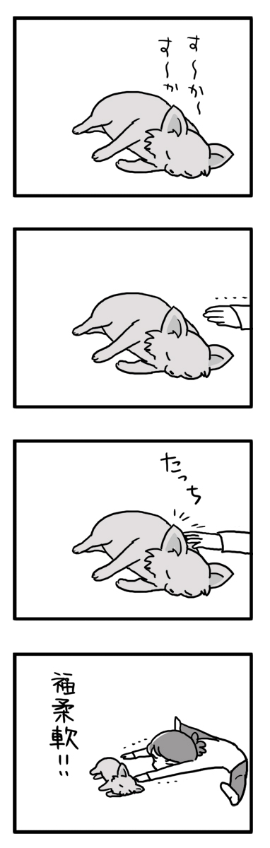 福 犬 柔軟 柔軟体操 漫画 マンガ