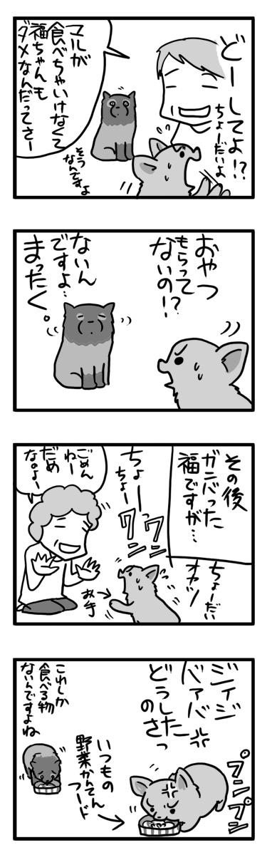 実家 福 預け 両親 オヤツ 犬 ダイエット 漫画 マンガ