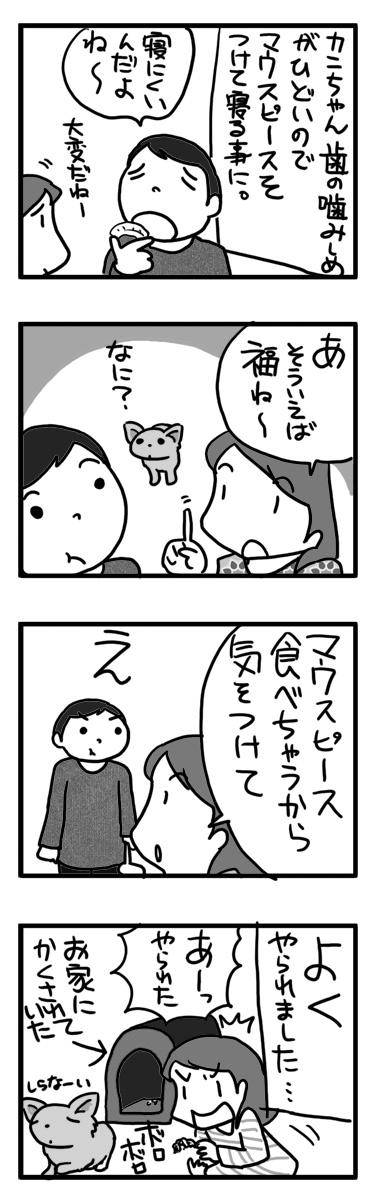 マウスピース かみしめ 噛む 寝 まんが マンガ 漫画 犬