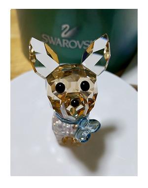 スワロ チワワ SWAROVSKI クリスタル 犬 Chihuahua