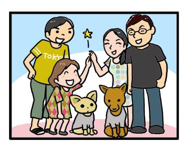 福 チワワ フク ふく 日本 香港 芝 まんが 漫画 まんが