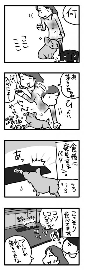 ごはん ゴハン ワンコ 犬 チワワ フード ぽろり ポロリ まんが 漫画 マンガ イラスト