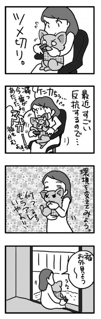 つめきり 爪 犬 チワワ 暴 静か 騙す まんが マンガ 漫画