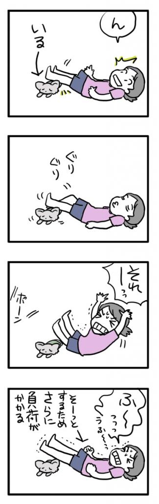 飼主 体操 筋トレ 筋肉 犬 チワワ まんが 漫画 マンガ