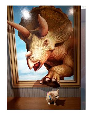那須 なす 那須高原 旅行 温泉 ペット 犬 チワワ 老犬 旅行 トリック アート 写真 インスタ イラスト わんこ ワンコ 漫画