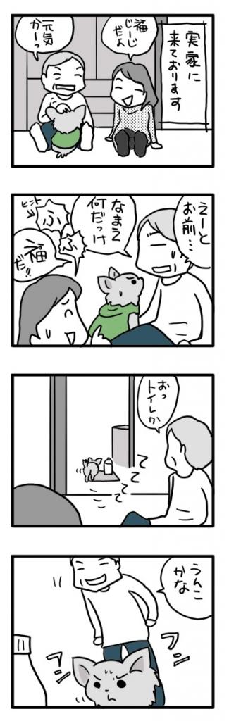 チワワ 老犬 福 ガウリン 吠 トイレ 見 できない 嫌 老 ワン 犬 まんが 漫画 マンガ