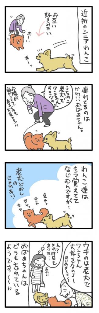 チワワ 老犬 福 吠 老ワン わんこ おばあちゃん おじいちゃん シニア ペット 爺 犬 まんが 漫画 マンガ