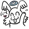 トク マル スピ 白 わんこ 虹 空 犬 mix 犬 キャラ