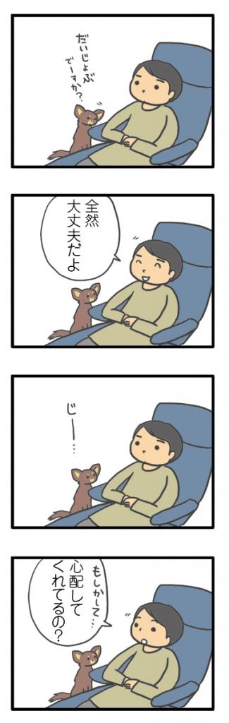 犬 心臓病 保護犬 老犬 チワワ 多頭 心配 心配してくれる 下痢 胃腸炎 治療 我慢 イラスト 絵 まんが 漫画 マンガ