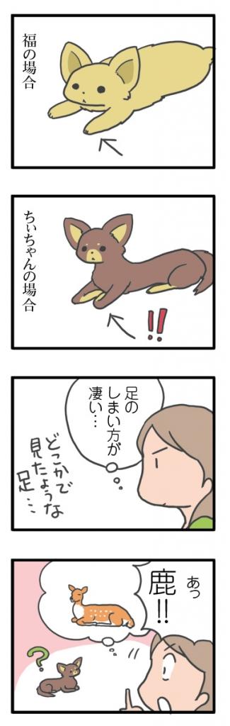 犬 足 長 折れ 鹿 細 心臓病 保護犬 老犬 チワワ  チョコ タン イラスト 絵 まんが 漫画 マンガ