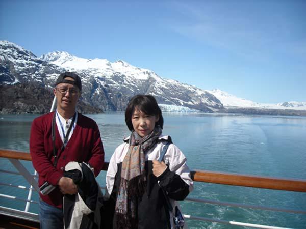 アラスカのグレイシャ氷河
