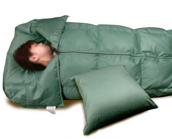 羽毛寝袋の写真
