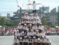55人ピラミッドです。