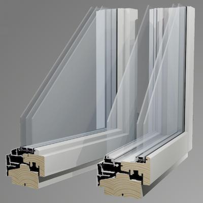3層と2+1=3層ガラス窓