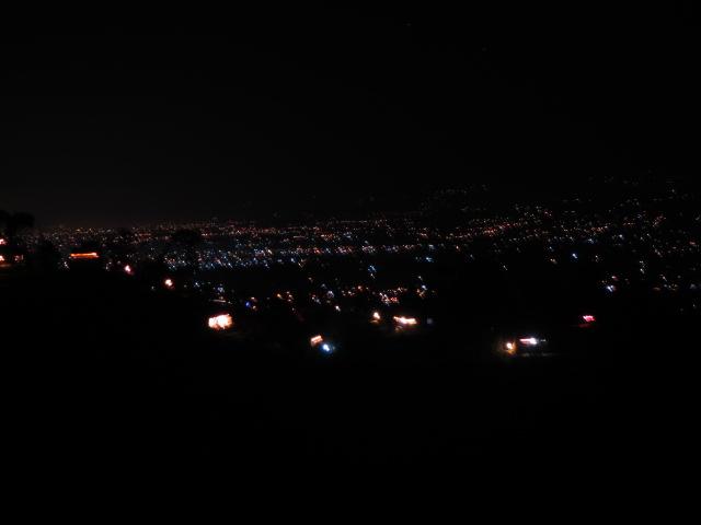 サンガからの夜景
