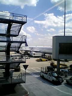 フランクフルト空港にて