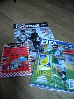 サッカー雑誌と語学の本