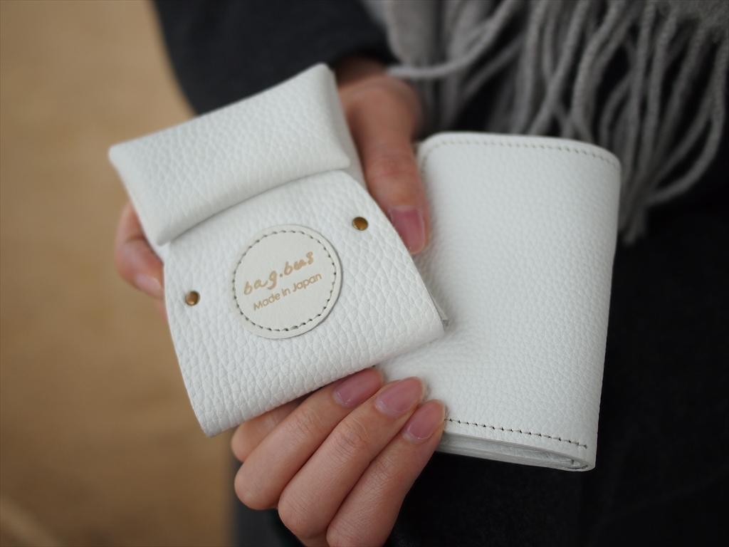 コインケース ミニ財布 カードケース ホワイト かわいい 面白い レザー 革 bagbus バッグバス