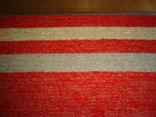 紅絹の生地を使った裂き織り