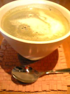 大きな器の抹茶ミルク