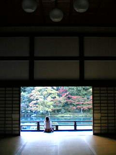 天龍寺庭園。