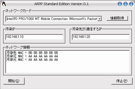 ARPP動作画面