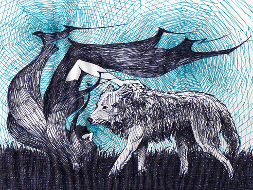 願う女と憂いの狼