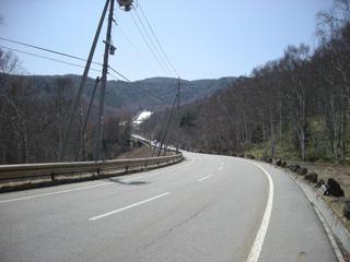 スキー場手前の平坦部分(レース後に撮りました)