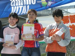 Chikaちゃん、BコースMTB女子、優勝!