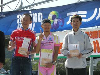 井上さん、AコースMTB男子、2位入賞!