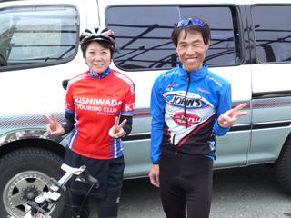 葛城山頂で井原さんとパチリ!