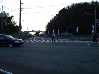 スタート地点の芦有ドライブウェイ方面