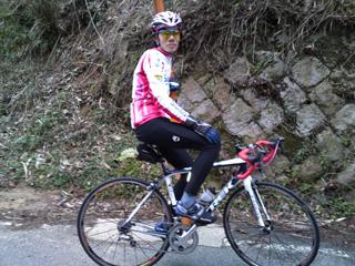 NEWバイク、マドンで自走参加のタッキーさん