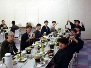 お楽しみの夕食〜